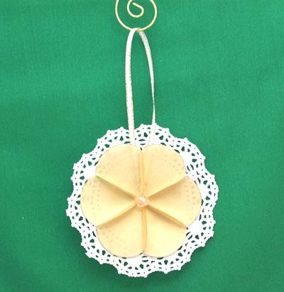 Paper Circles Triangle Doily Ornament
