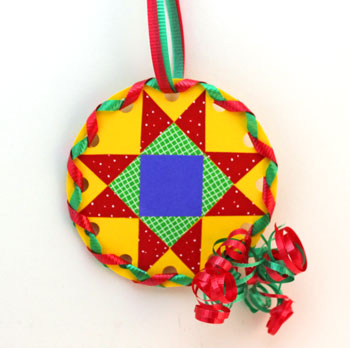 Paper Quilt Patch Ornament