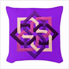 Celtic Pillow with Purple Poins from funEZ Bazaar
