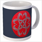 Celtic Plaid Hearts Mug on the funEZ Bazaar