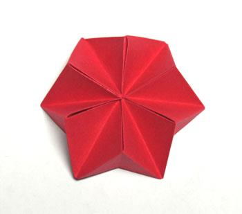 Pyramid Folded Star step 15 open star