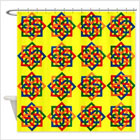 Bright Yellow Celtic Design Shower Curtain from funEZ Bazaar