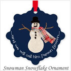 Parson Brown Snowman Snowflake Ornament on the funEZ Bazaar