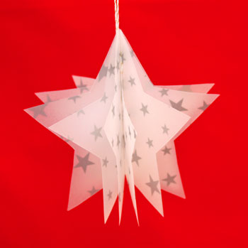 Vellum Ornament finished and on display