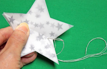 Vellum Ornament step 10 push needle through all layers