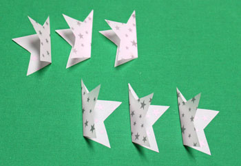 Vellum Ornament step 5 erase and fold all shapes